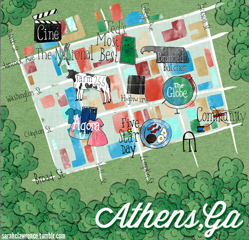"This  Athens, GA City Guide by Design Sponge  comes from Alyssa DeHayes and Natasha Murphy, one a publicist for Athens-based Team Clermont and one a freelance web developer, both UGA grads who share a love of live music, great food, fancy cocktails and shopping. From eateries to flea markets, they share the best of this southern city. Thanks Design Sponge for a local look at our city of Athens!     See the full article  here       On The National…   ""A truly memorable dining experience. Chef Peter Dale never fails to make good use of seasonal offerings and locally sourced meat and seafood. Menu highlights include gazpacho, boquerones, medjool dates with celery and manchego, the veggie plate … really everything on the menu is a highlight. The wine selection is among the best in town. Pro-tip: if you're unable to get a reservation (they go fast), show up anyway. Seating at the bar and outdoor tables is first come, first serve.""       Plus, check out this   Google Map   with all of the below listings!"