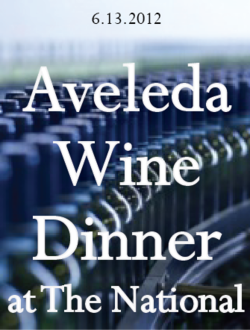 Wednesday, June 13th  6:30 pm, $50 per person  for reservations:  706-549-3450 or thenationalrestaurant@gmail.com    Aveleda is the producer of the wildly popular Casal Garcia Vinho Verde, we've served it from day one at The National.  You may not know Aveleda produces a wide variety of wines including reds and brandy.  Fatima Fino Pereira from Aveleda will be here to share the winery's full range of wines.    To begin:   Aveleda Fonte 2010, Vinho Verde    1.   carrot gazpacho with ham, grilled squid and padrón peppers  Quinta da Aveleda 2010, Vinho Verde    2.   poached Georgia shrimp, giant white beans, local tomatoes, roasted peppers, olives, smoked paprika vinaigrette and crusty bread  Aveleda Follies 2010, alvarinho-loureiro, Douro    3.   roasted pork loin with marinated clams, chorizo, watercress and piri piri broth  Aveleda Charamba 2007, Douro    4.   grilled local lamb chop with cumin, roasted apricot, cilantro-mint relish, almond puree  Aveleda Follies 2007, touriga nacional, Douro    5.   fig and sherry bread pudding, chocolate shavings, creme fraiche with piloncillo  Adega Velha brandy