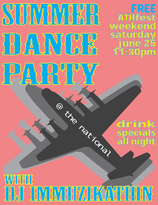 This Saturday, ATHfest doesn't end with the music venues. Come out to our after hours dance party featuring DJ Immuzikation starting at 11:30pm right in our dining room