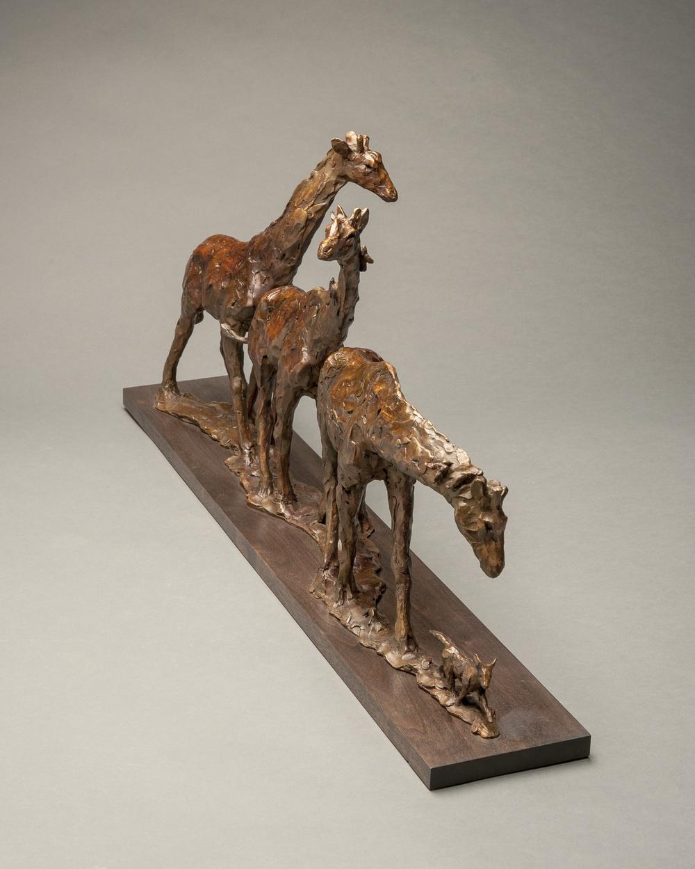 "Dan Ostermiller, bronze,The Jackal, 15"" x 32"" x 5 1/2"""