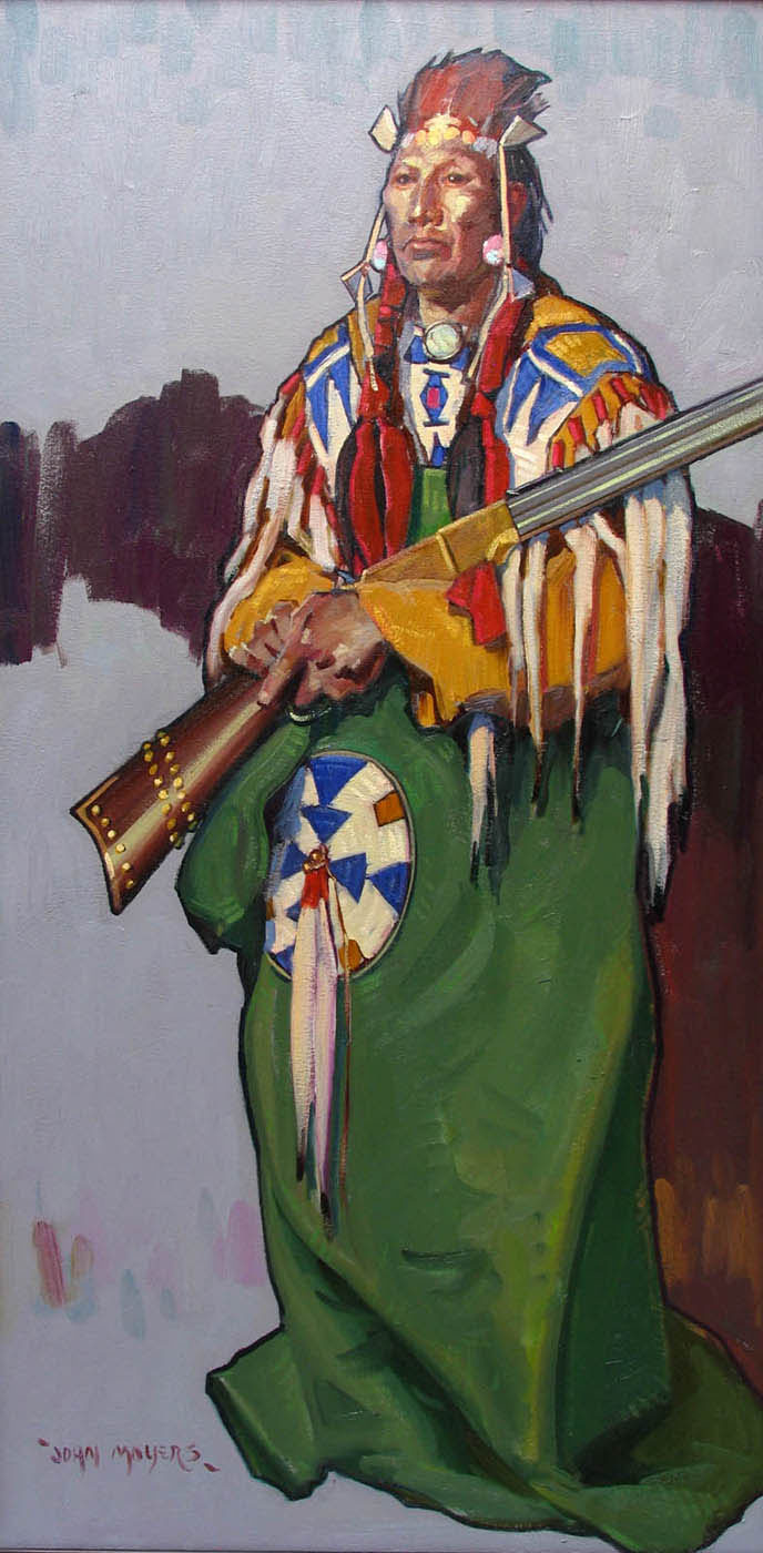 Blackfeet Man With Henry Rifle