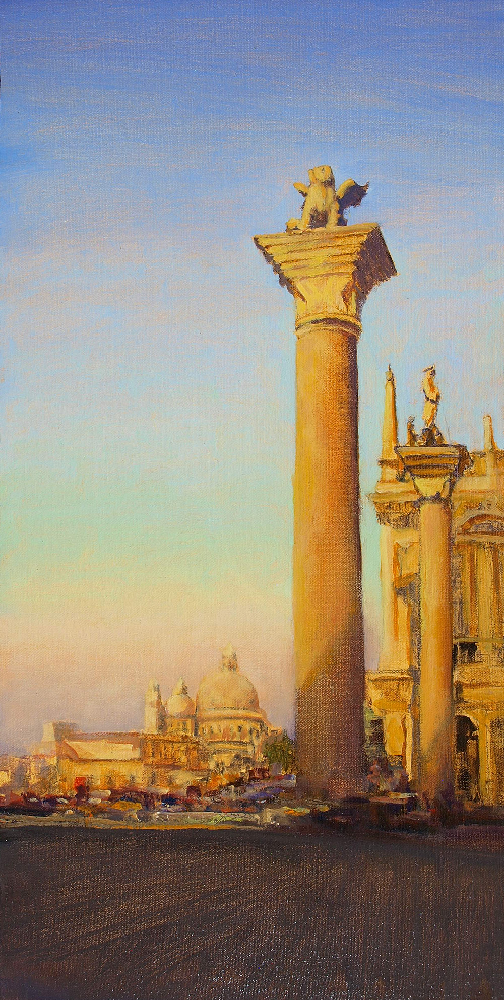 "Piazzetta San Marco  Oil on linen 20"" x 10"""
