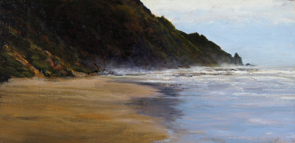 "Study for Cape Perpetua  Oil on linen 10"" x 20"""
