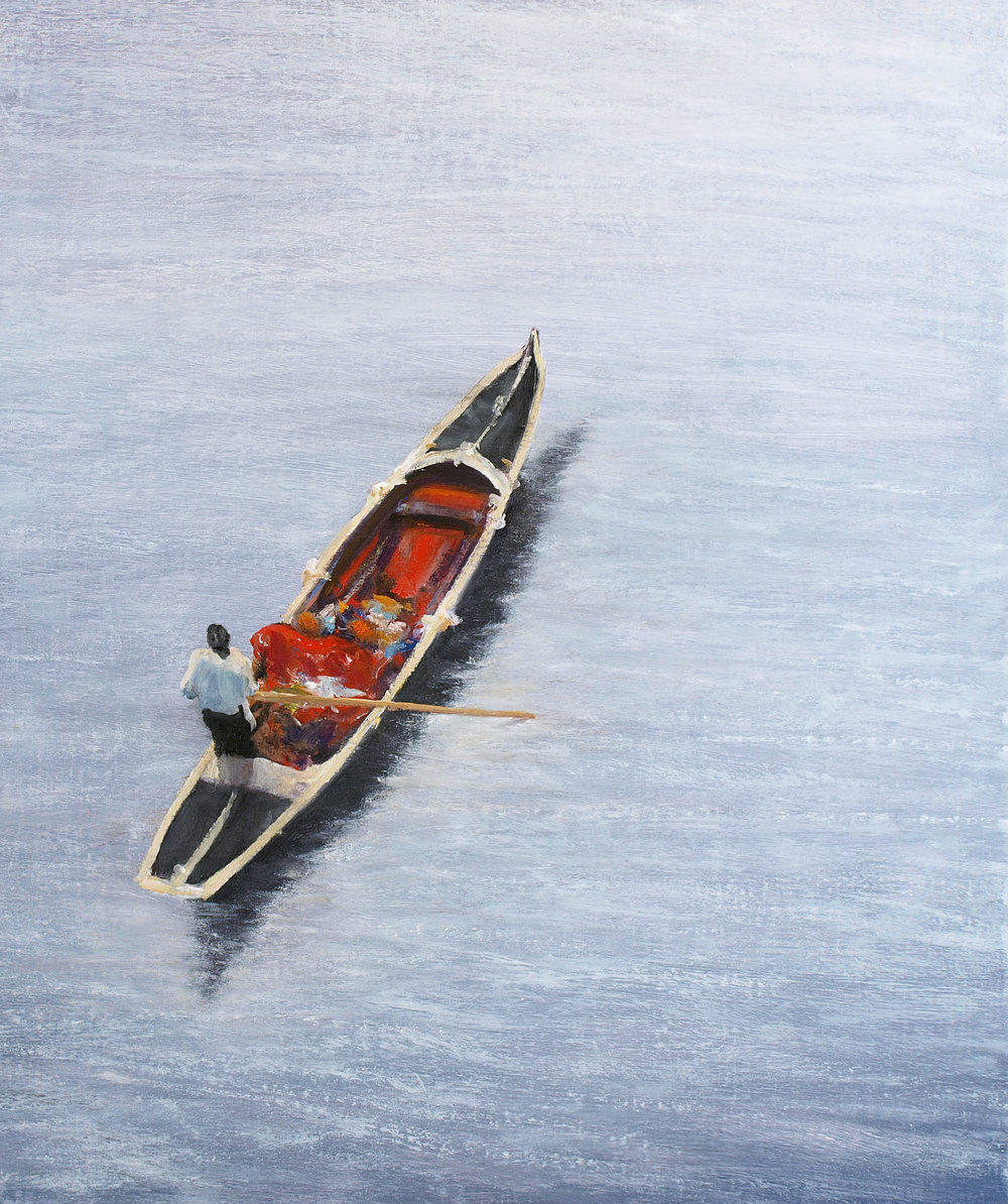 "Gondolier  Oil on linen 24"" x 20"""