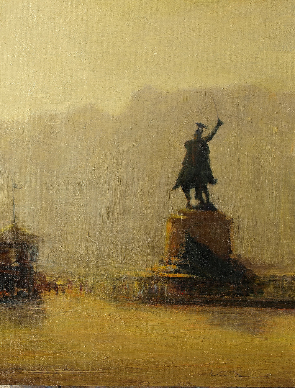 "Golden Morning, Venice  Oil on linen 18"" x 14"""