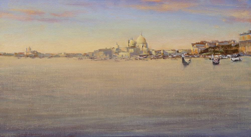 """Bacino di San Marco oil on linen 12"""" x 22"""""""