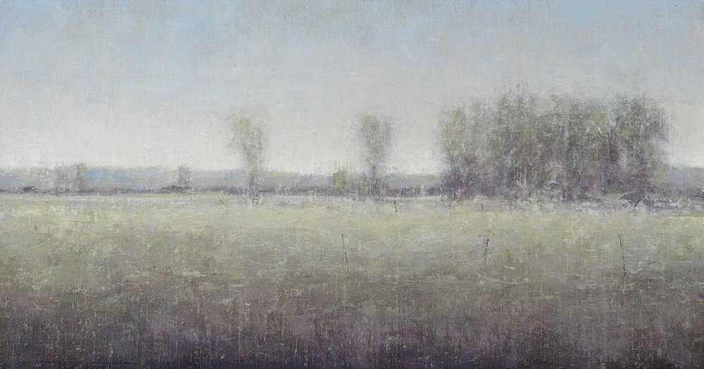 "Winter Pasture  oil on linen 12"" x 22"""
