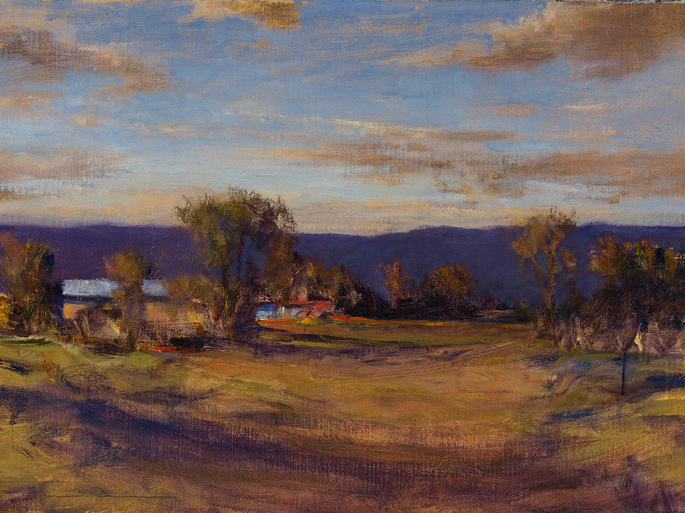 "South of Galisteo  oil on linen 12"" x 16"""