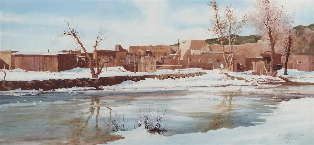 Taos Pueblo Winter