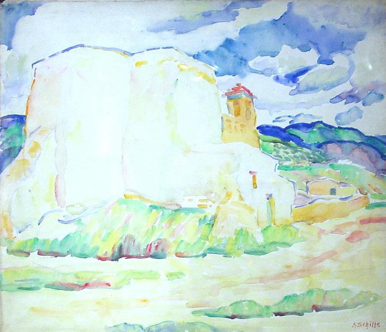 Ranchos de Taos, Adobe House in the Distance
