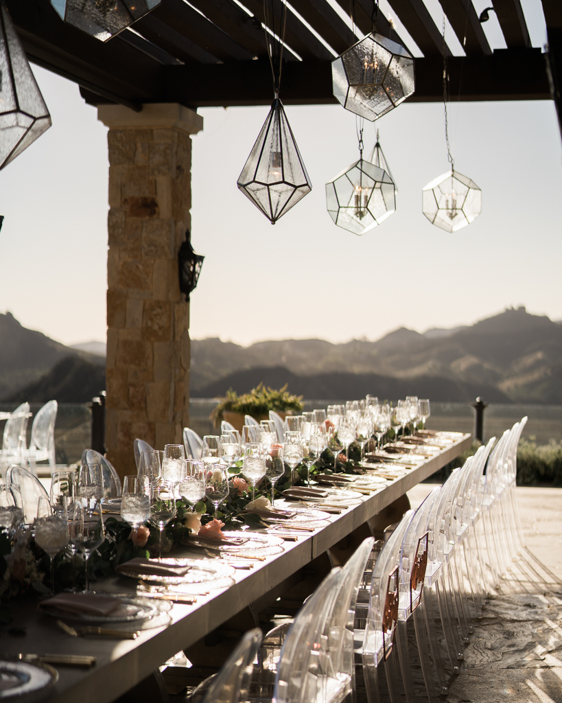 Mid Century Modern Chandelier Luxury Outdoor Wedding