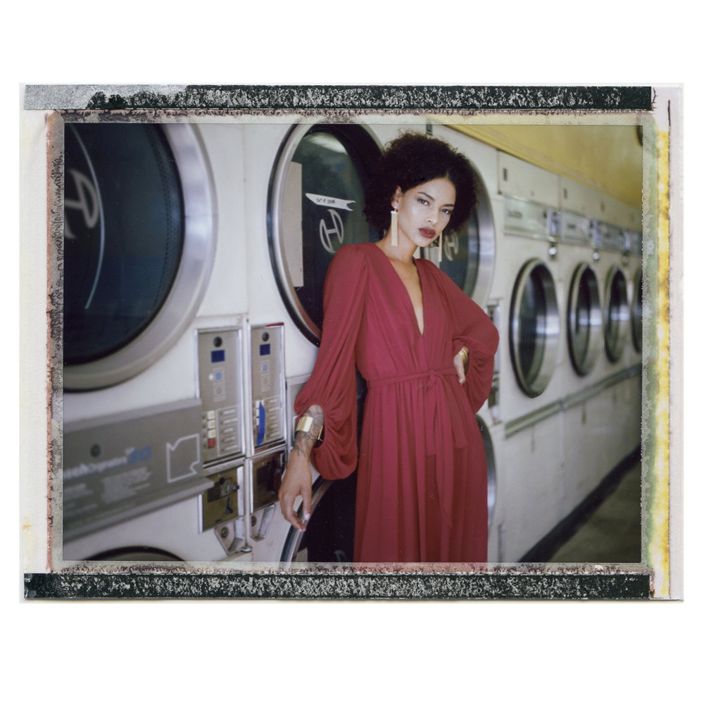 Jordyn in Red Halston Dress Polaroid F100c.jpg