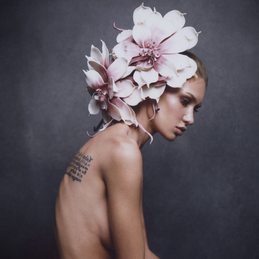 Fuji FP100c Peel Apart Instant film Floral Headpiece.jpg