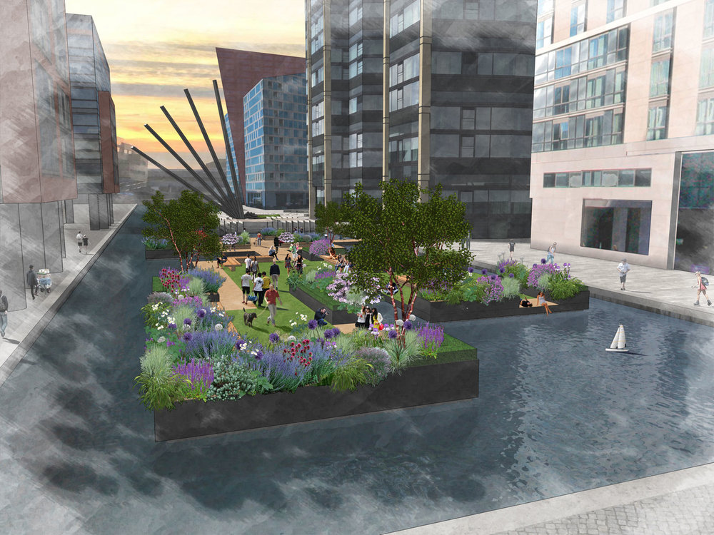 Floating Garden - Paddington Basin