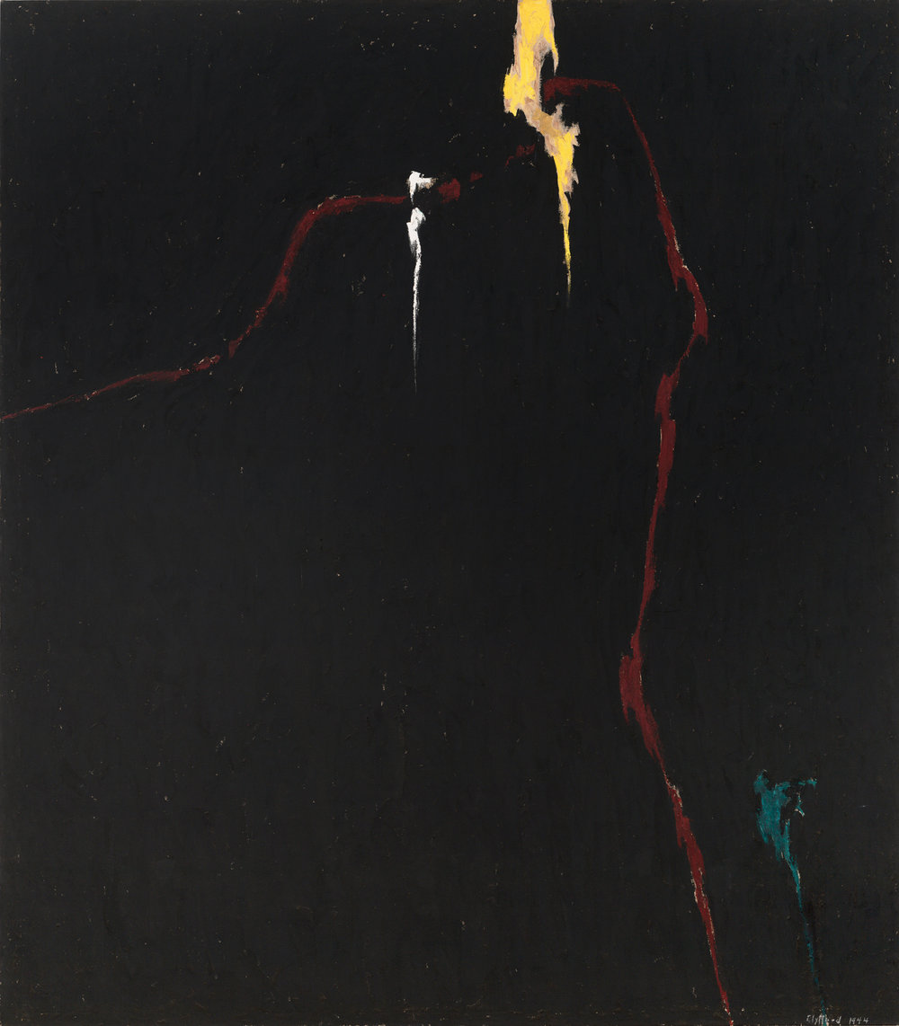 Clyfford Still, PH-235, 1944, oil on canvas, Richmond, Virginia.