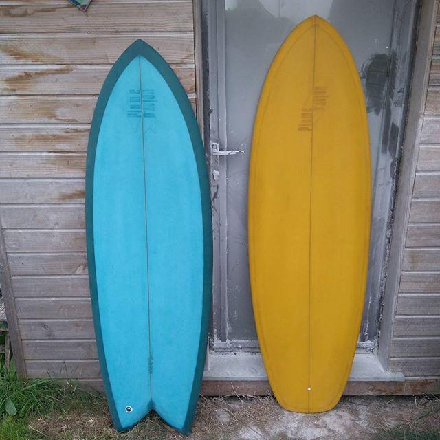 5'4&5'7 déçu #twinfin  #singlefin  #plumedavionsurfboards  #handshapedsurfboards