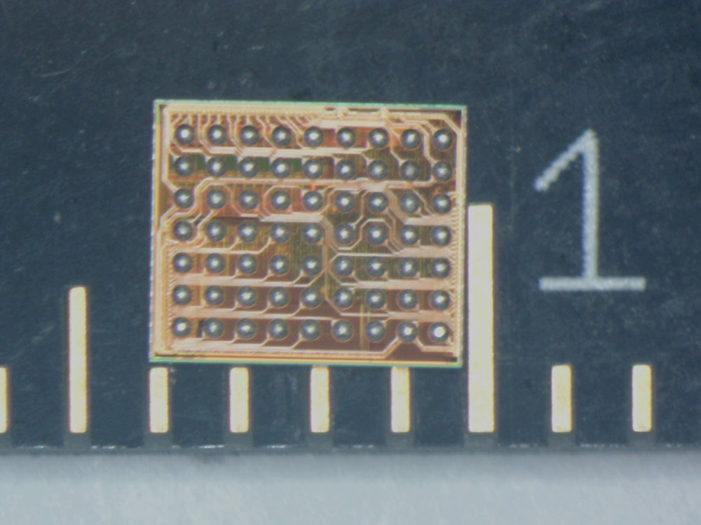 Cumulus IC - 63 solder balls on a surface of only 3 X 4 mm