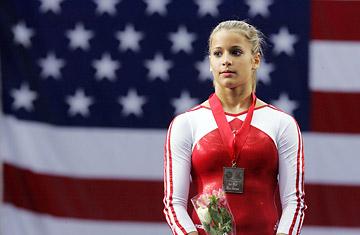 Silver medallist Alicia Sacramone (gymnastics)