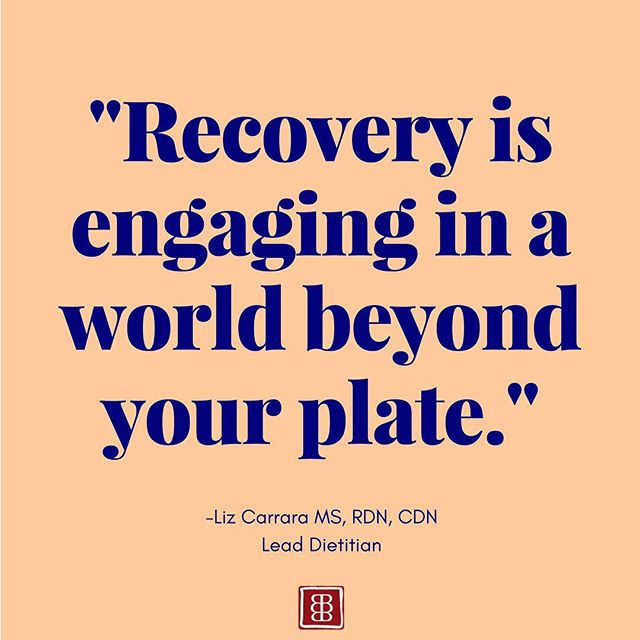 We asked our #Nutrition team to share some words of wisdom to celebrate #NationalNutritionMonth! We love this quote about #eatingdisorder #recovery from our Lead #Dietitian, Liz Carrara! #edrecovery 🌍✨