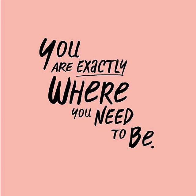#Monday Morning reminder that you are exactly where you need to be ✨ What is your #intention this week? Maybe more #selfcompassion, #selfcare or simply celebrating an #accomplishment? 👆 #mondaymotivation #edrecovery #loveyourself #happymonday