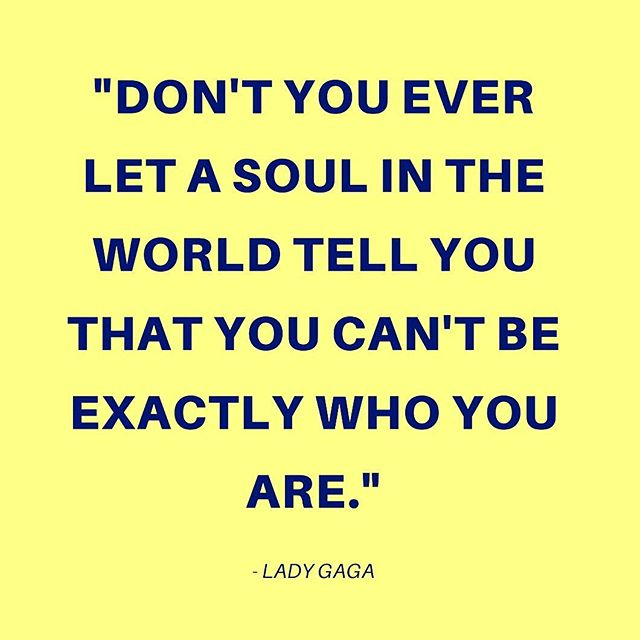 Do you love @ladygaga? We think she is a great source of inspiration and a reminder to all to always be our true selves! In honor of her birthday, here is one of our favorite #ladygaga quotes ✨ #beyourself #wednesdaywisdom