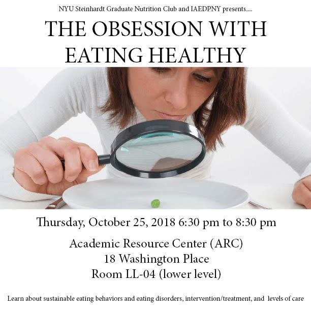 The Obsession with Eating Healthy NYU IAEDPNY presentation