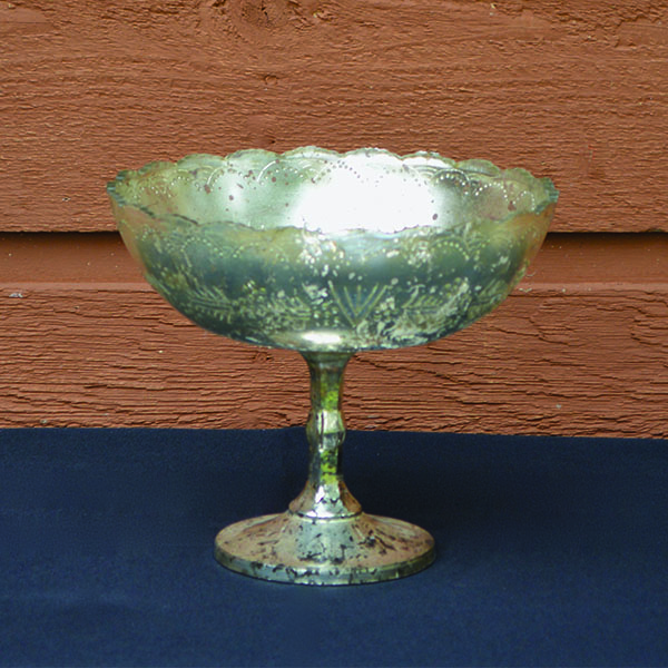 Mercury Glass Pedestal Vase