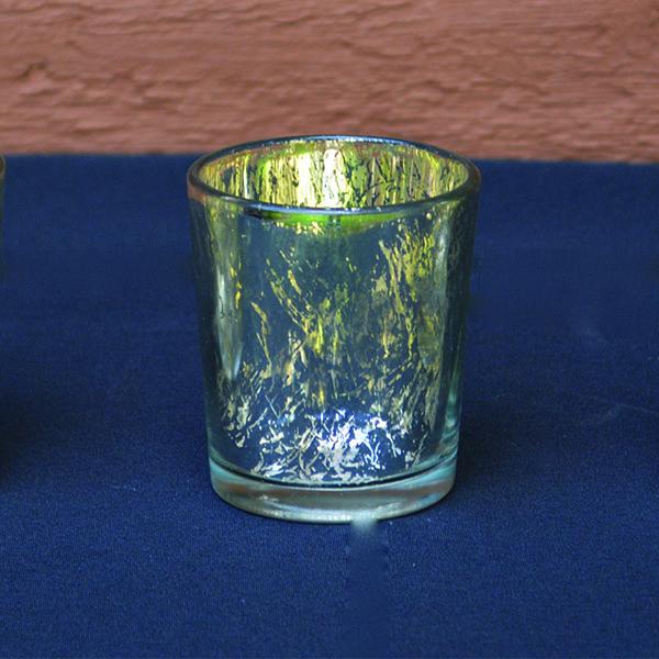 Mercury Glass Silver Votive