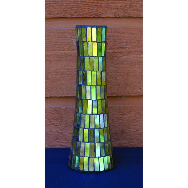 Glass Mosaic Tower Vase