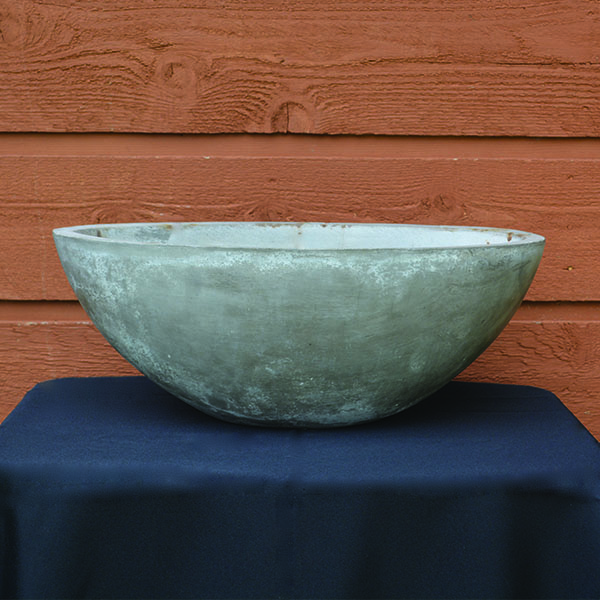 Concrete Grey Oval Planter