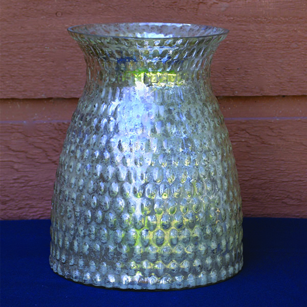 Silver Pear Shaped Vase