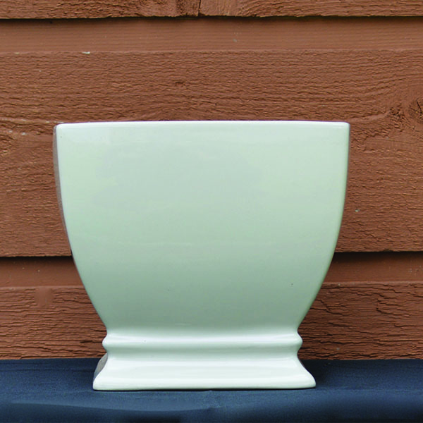Ceramic Ivory Square Planter