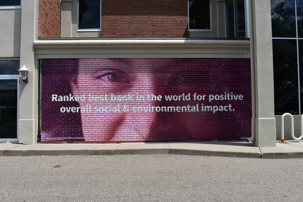 Bank Brick Wall Wrap