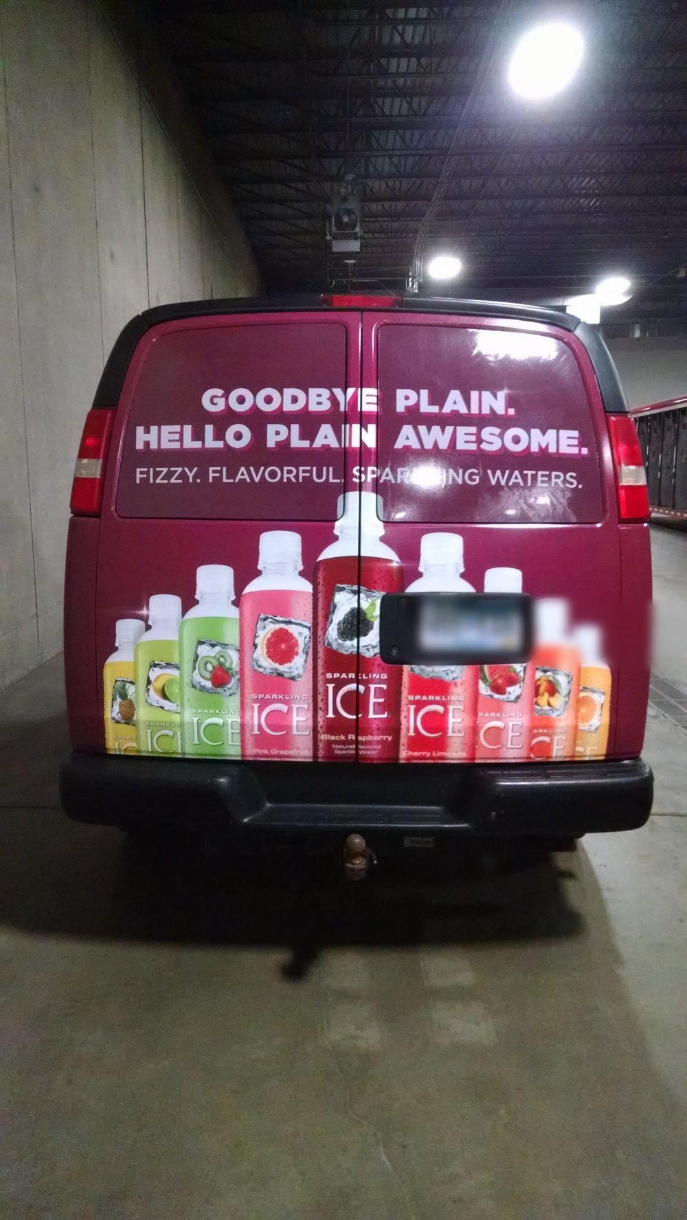 Van wrap Sparkling Ice