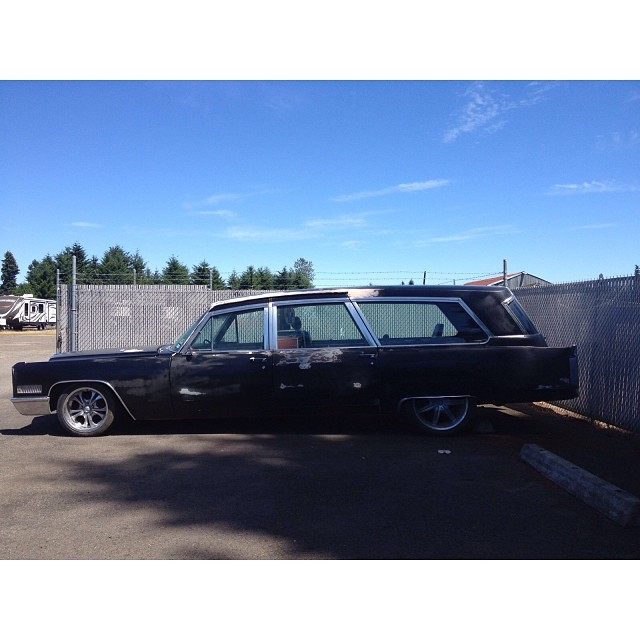 Our new tour rig. We were just melting too many hearts... #66hearse