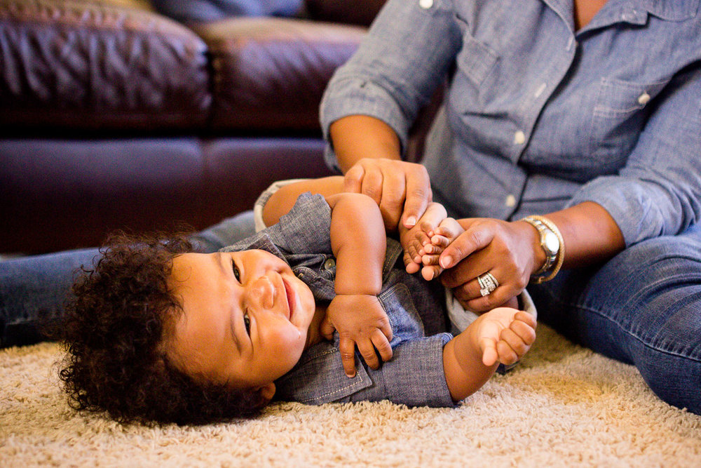 Playing with your baby's feet... -