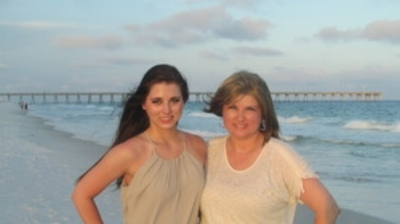 April and her daughter, Chloe, on their respite trip in Pensacola Beach, FL