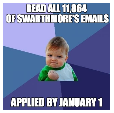The email from Swarthmore.