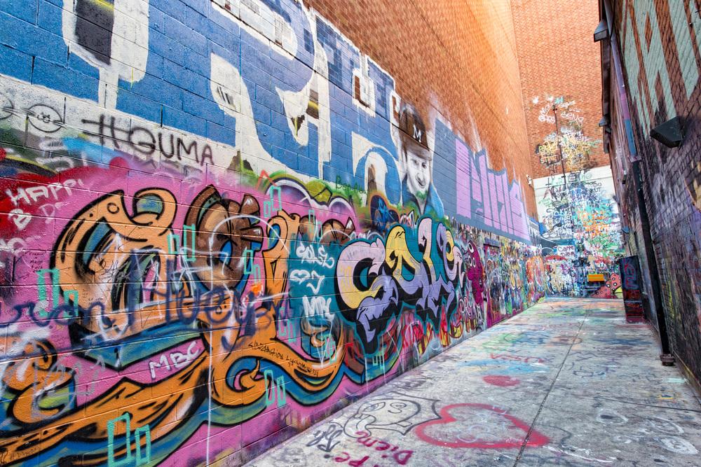 Ann Arbor State Street District Graffiti Alley