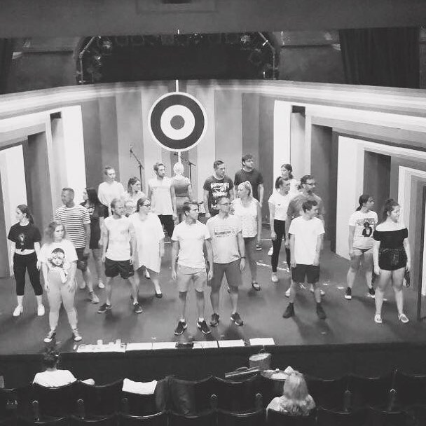 Can you spot me? A still from today's tech rehearsal #theatre #musicaltheatre #thewho #tommy #thewhostommy #theatrecraft #whitstable #hernebay