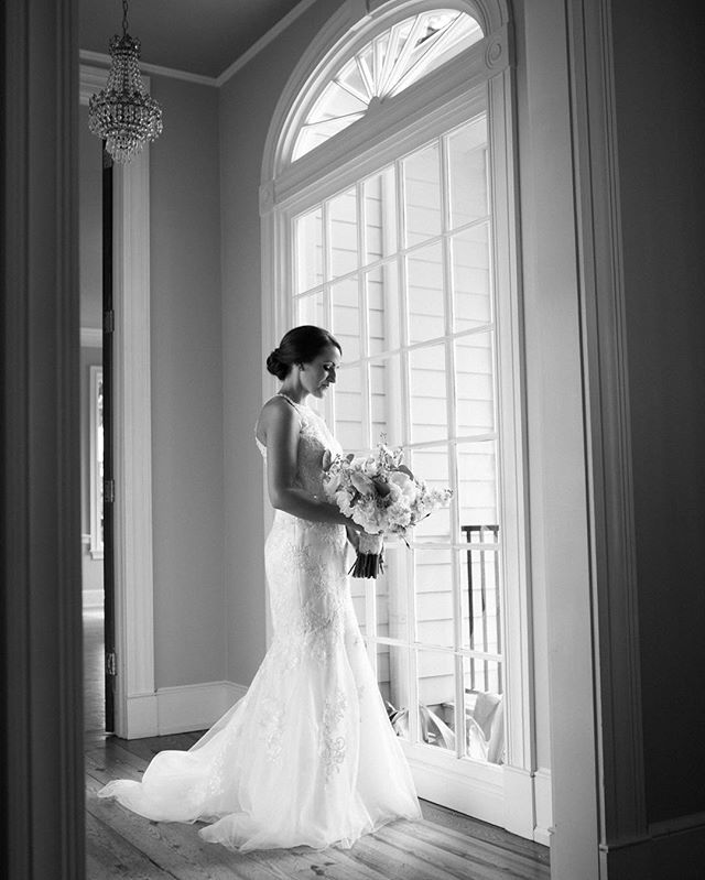 A quiet moment before seeing her groom #kimboxphotography #wedding #bridalportraits #weddingphotography