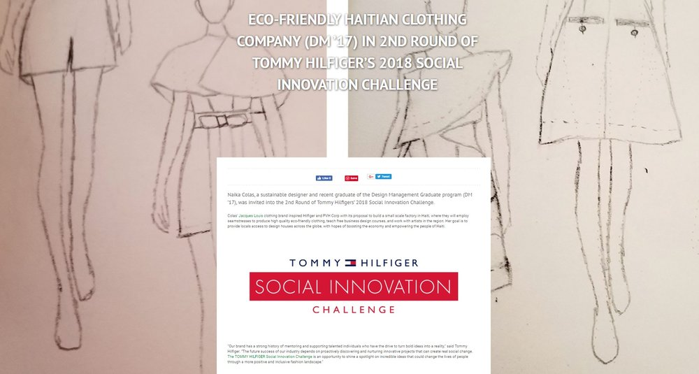 Pratt Institute's Catalyst Magazine -  Naika Colas + Tommy Hilfiger Social Innovation Challenge