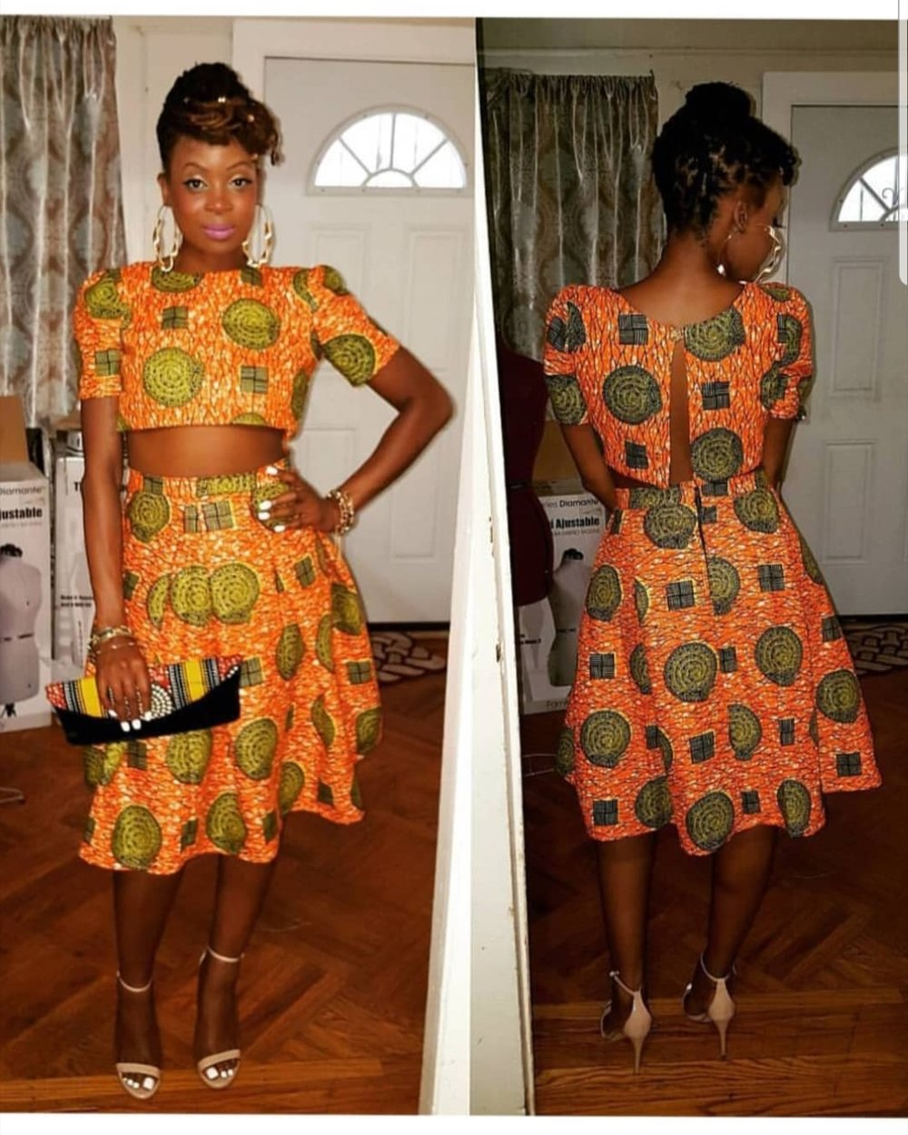Stylist Deniece C. Styles in Jacques Louis ankara 2-piece - Wedding guest