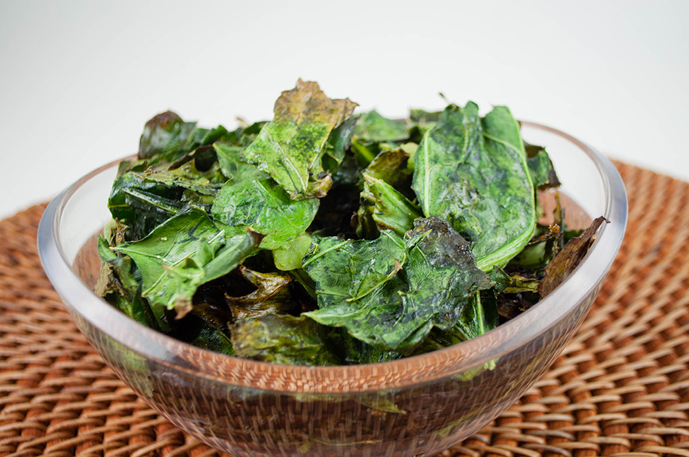 Maple Coconut Collard Green Crisps