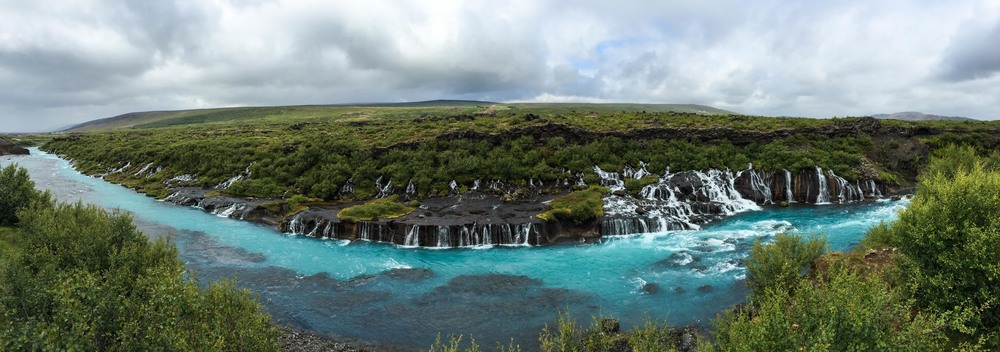 Hraunfossar, iPhone for the win.