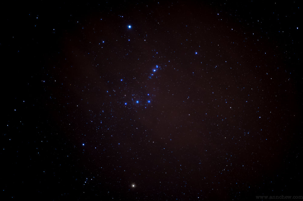 Orion, with Betelgeuse on the bottom