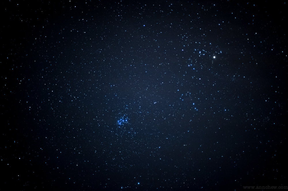 the Pleiades (and Betelgeuse again)