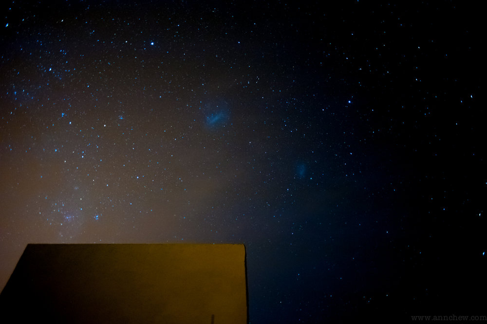 the two Magellanic clouds, and our outdoor theater