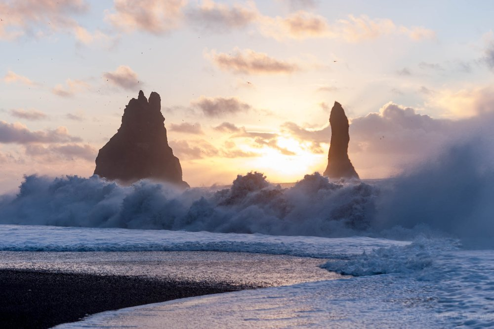 "In spite of the giant sign warning of these unpredictable, strong ""sneaker waves"" in multiple languages, tourists drown every year at the famous Reynisfjara black sand beach ..."
