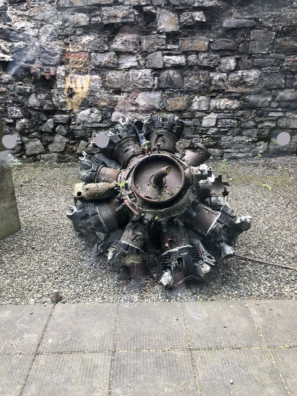 The remains of a B-17 engine that crashed in 1943.